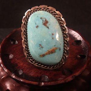 Vintage large Navajo Sterling Ring